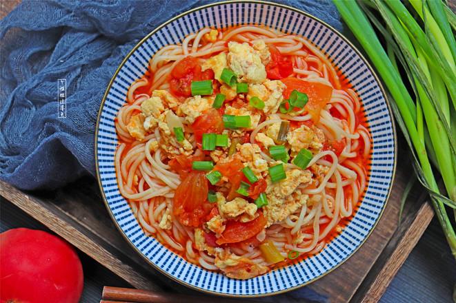 番茄鸡蛋面成品图