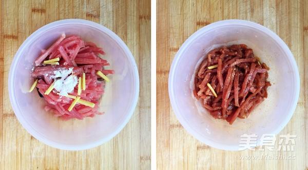 蒜苔炒肉丝的家常做法