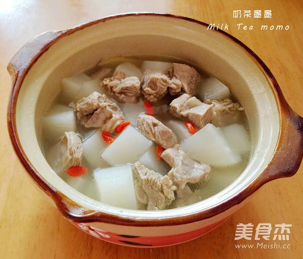 白萝卜炖羊肉成品图