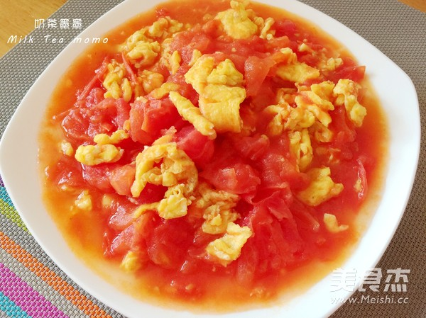 西红柿炒鸡蛋成品图