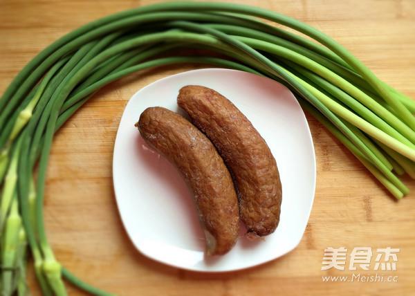 红肠炒蒜苔的做法大全