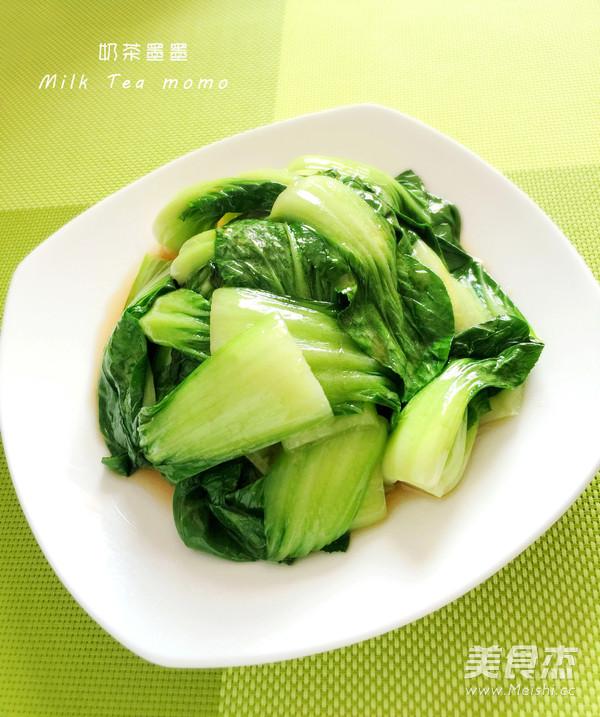 清炒小油菜成品图