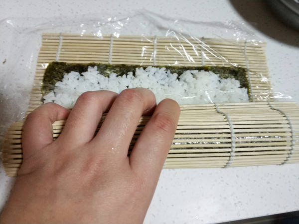 紫菜包饭的制作