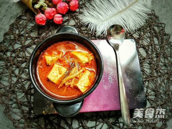 韩式辣白菜豆腐汤怎么吃