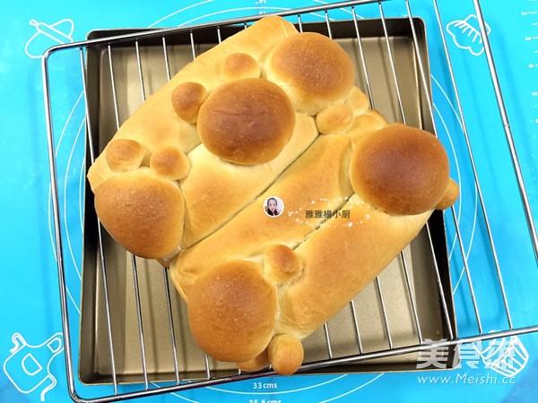 花生酱挤挤卡通汤种面包的做法大全