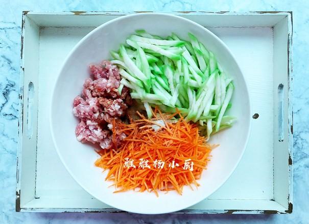 丝瓜胡萝卜肉末包子的简单做法