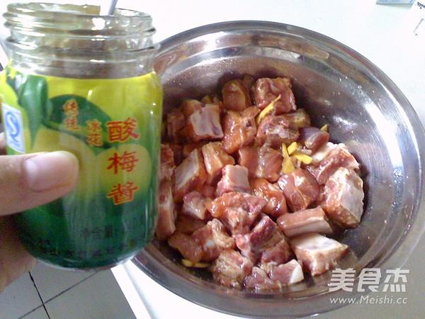 酸梅酱蒸排骨的简单做法