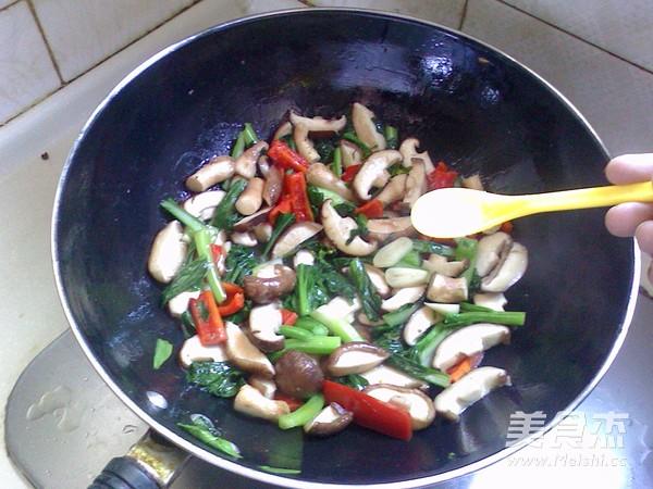 香菇油菜心怎么炒