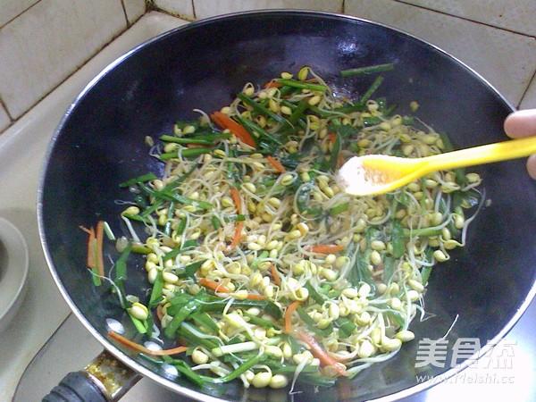 素炒韭菜黄豆芽怎么做