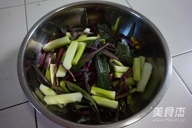 蒜蓉红菜苔的做法图解