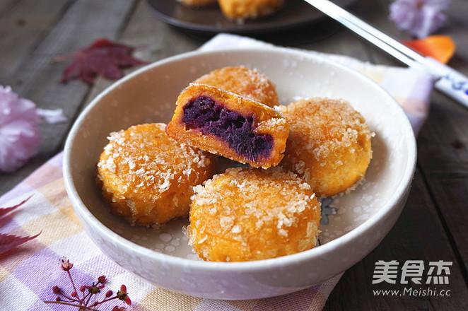 紫薯南瓜饼怎么煸