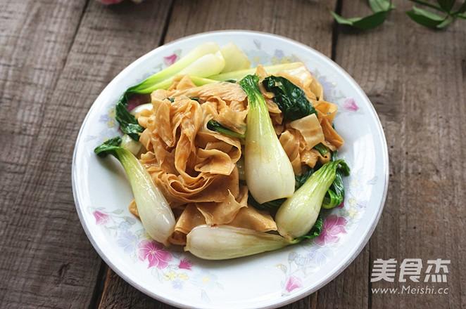 豆皮炒青菜怎么煮