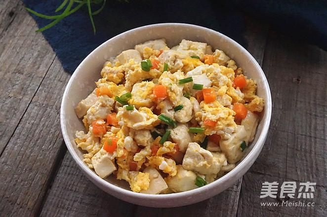 鸡刨豆腐成品图