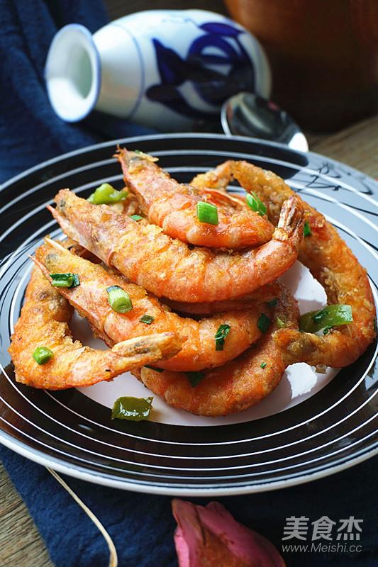 脆皮虾成品图