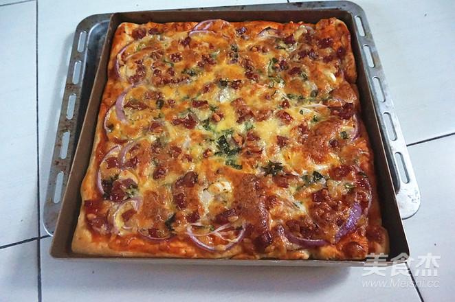 腊肠披萨怎么炒