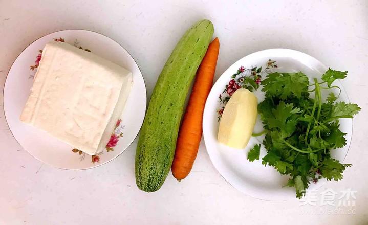 无油胡萝卜瓜丝豆腐汤的做法大全