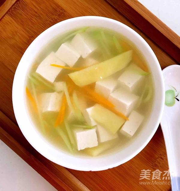 无油胡萝卜瓜丝豆腐汤怎么炒