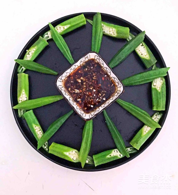 秋葵蘸酱的步骤