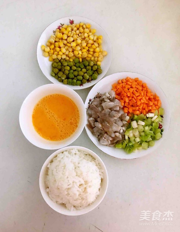 什锦虾仁焗饭的做法图解