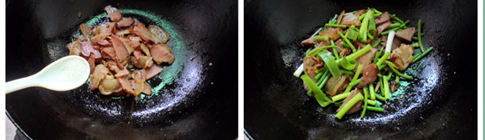 蒜苔炒腊肉的简单做法