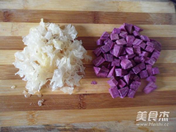紫薯百合银耳汤的做法图解