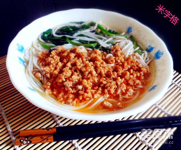 杂酱米线怎么吃
