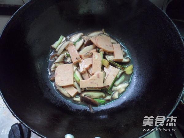 香菇烧午餐肉的家常做法