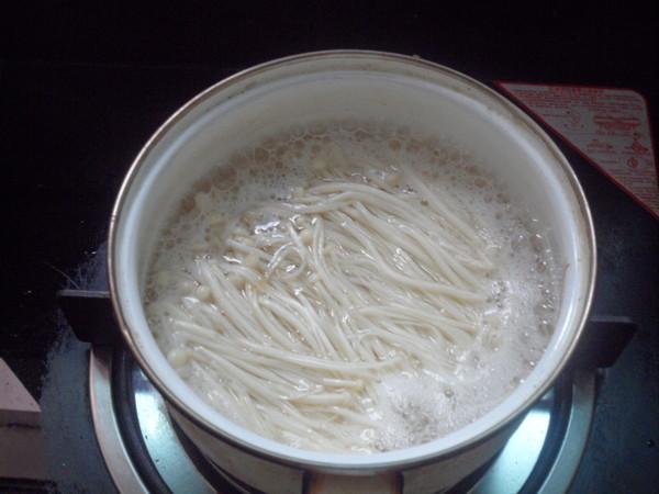 海带拌金针菇的步骤