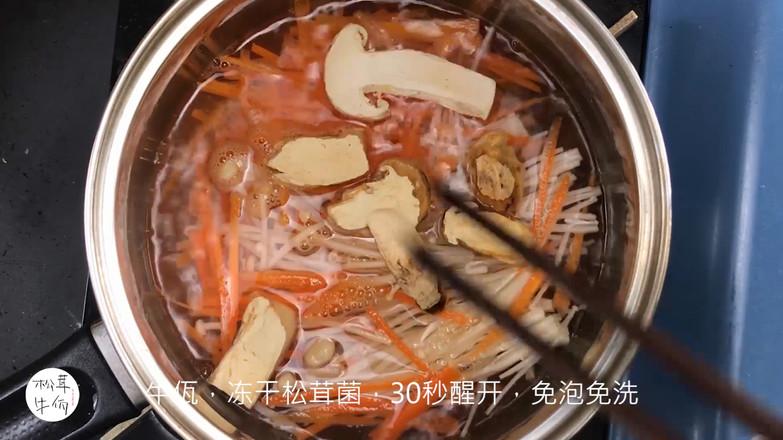 鲜虾松茸菌菇汤|牛佤松茸食谱怎么做
