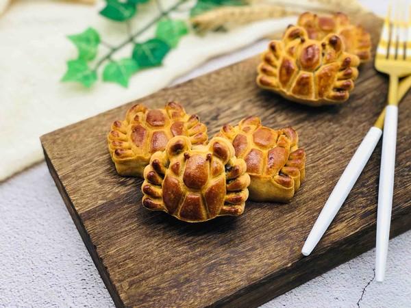 豆沙蛋黄月饼(螃蟹款)怎样煮