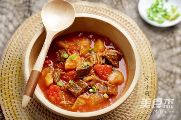 番茄土豆炖牛腩怎么炒
