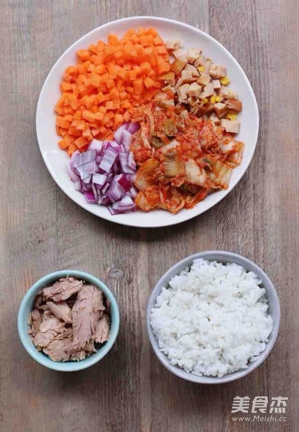 韩国泡菜吞拿鱼炒饭的做法图解