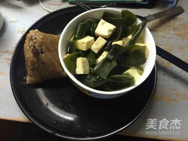 海带豆腐汤成品图