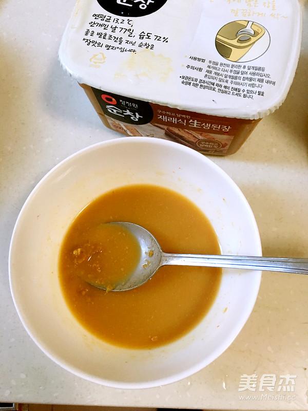韩式酱汤喝起来的家常做法