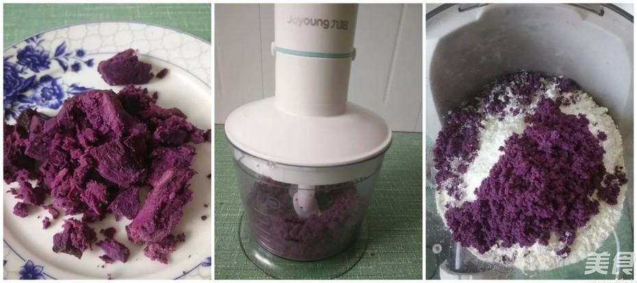 一碗鲜美的紫薯海鲜面的做法大全