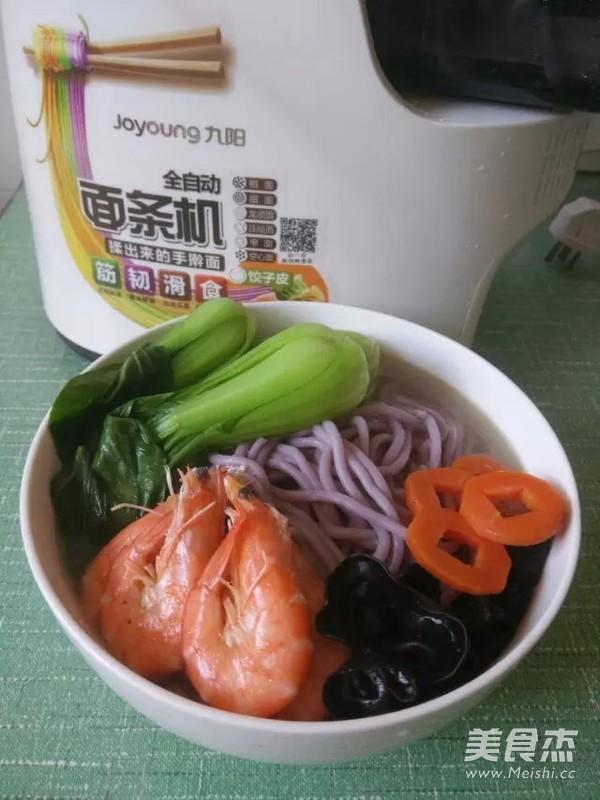 一碗鲜美的紫薯海鲜面的简单做法