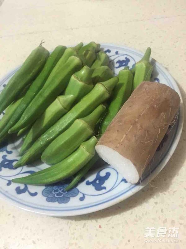 秋葵淮山炒肉片的做法大全