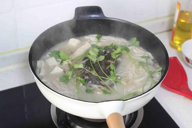 鱼头豆腐汤(九阳轻奢炒锅)怎么吃