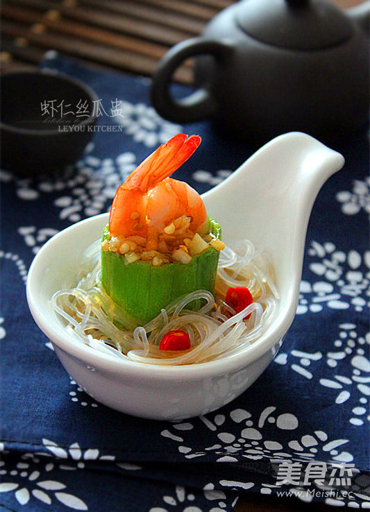 虾仁丝瓜盅成品图