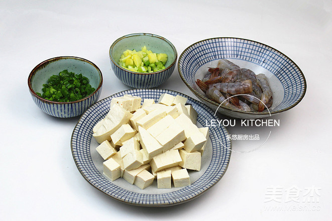 虾仁烩豆腐的做法图解