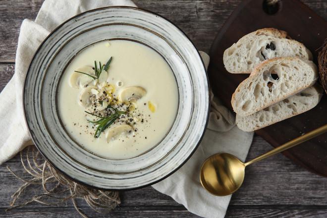 奶油蘑菇浓汤-Vitamix版怎么炖