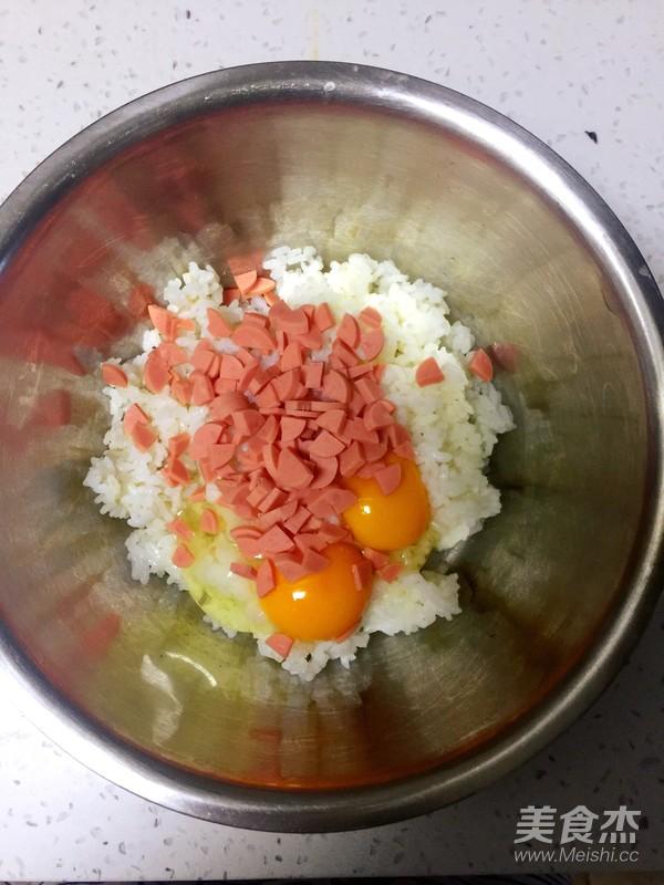 米饭火腿鸡蛋饼的做法图解