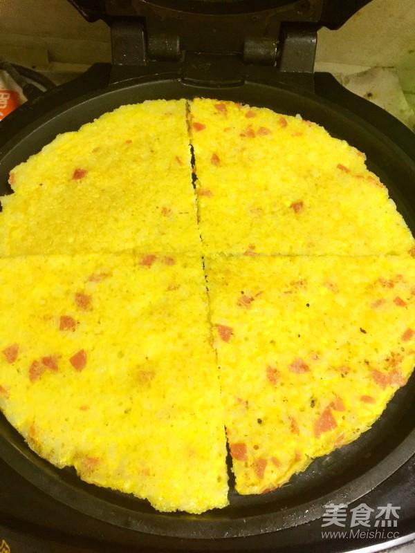 米饭火腿鸡蛋饼怎么吃