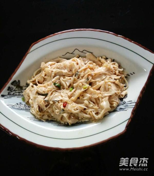 豆腐衣拌金针菇怎么吃