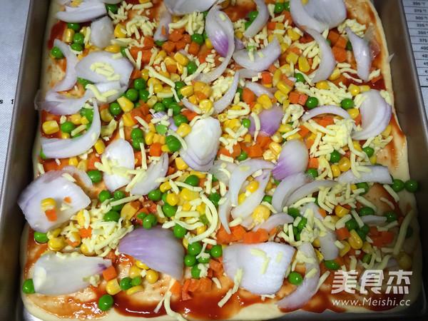 虾仁香肠披萨怎么炒