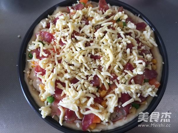 菌菇香肠披萨怎么煸
