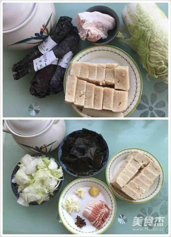 冻豆腐五花肉炖海带白菜的做法大全