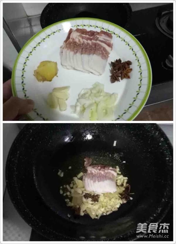 冻豆腐五花肉炖海带白菜的做法图解