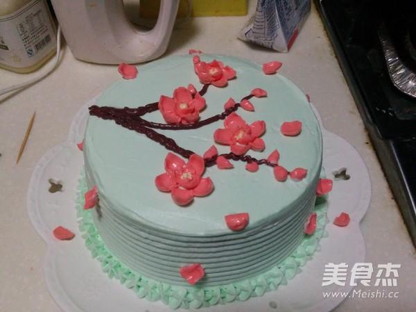 梅花裱花蛋糕的做法大全