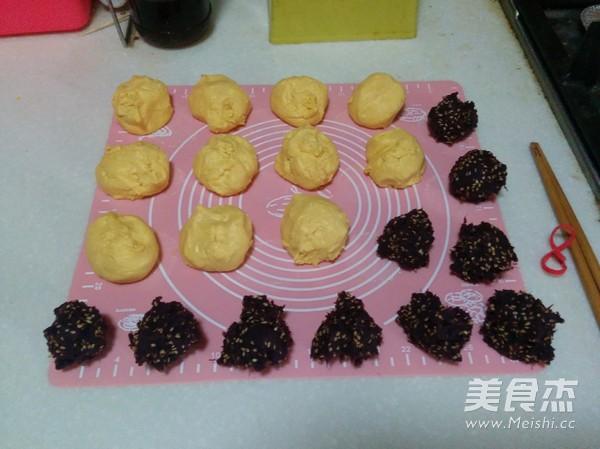 紫薯南瓜饼怎样煸